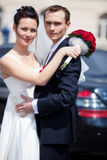 Young wedding couple Royalty Free Stock Photos