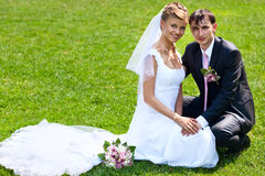 Young wedding couple Stock Photo