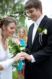 Young wedding couple Stock Photos