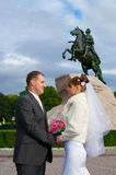 Young wedding couple Royalty Free Stock Photos