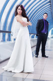 Young wedding couple Royalty Free Stock Image