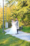 Young wedding couple royalty free stock photography