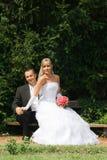 Young wedding couple Stock Image