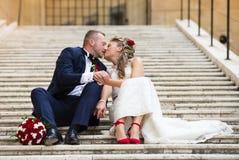 Young wedding couple Royalty Free Stock Image