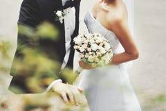 Young wedding couple. stock image