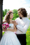 Young wedding couple in love Stock Photography