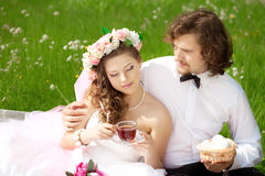 Young wedding couple in love Royalty Free Stock Photography