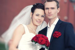 Young wedding couple portrait Royalty Free Stock Photo