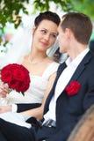 Young wedding couple portrait Stock Image