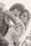 Young wedding couple portrait Royalty Free Stock Images