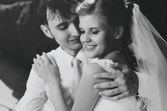 Young wedding couple portrait Royalty Free Stock Image