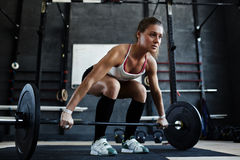 Young weight lifter Royalty Free Stock Image
