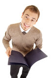 Young well-dressed man with files for documents. Stock Photography