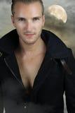 Young werewolf - handsome blond man Stock Photos