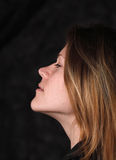 Young white woman. Profile portrait of young white woman Royalty Free Stock Photography