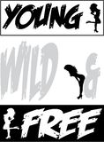 Young wild & free background design Royalty Free Stock Images