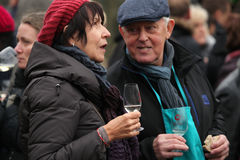 Young wine celebration at Saint Martin Day in Prague Stock Photos