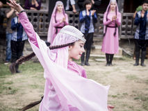 Young Wine Festival in Tbilisi stock images