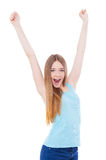 Young winner! Royalty Free Stock Image