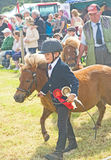 Young winner at Nairn Show. Stock Image