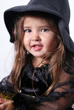 Young Witch. Young girl dressed in her Halloween costume as a Witch Stock Photos