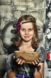 The young witch conjures Stock Photos