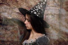 Young witch Royalty Free Stock Photos