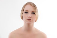 Young woman. Head and shoulders beautiful elegant young woman royalty free stock photos