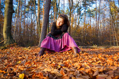 Young woman. In autumn park Stock Image