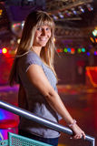 Young woman. In a disco Stock Photography