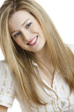 Young woman. Portrait of young blond woman Stock Photos