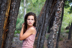 Young woman. Outdoor portrait of beautiful young woman Royalty Free Stock Photo