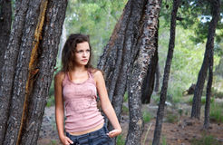 Young woman. Outdoor portrait of beautiful young woman Stock Photos