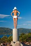 Young woman. Beautiful young woman in white bikini Stock Image