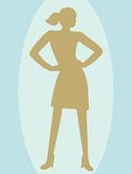 Young woman. Silhouette of a young woman Stock Images