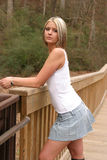 Young woman. Young beautiful woman wearing a white dress shirt Royalty Free Stock Photography