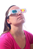 Young woman in 3d glasses Stock Photography