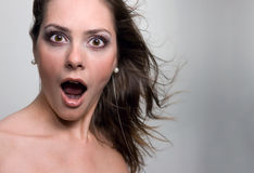 Young woman. Portrait of a young sexy woman, screaming Stock Images