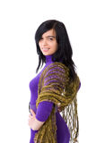 Young woman. Muslim Woman wearing dress isolated Royalty Free Stock Images
