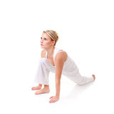 Young woman. Doing yoga exercise Royalty Free Stock Photo