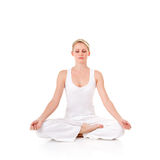 Young woman. Doing yoga exercise Stock Image