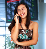 Young Woman In An Airport Royalty Free Stock Image