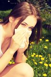 Young woman with allergy Royalty Free Stock Photo