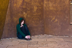 Young woman alone Stock Images