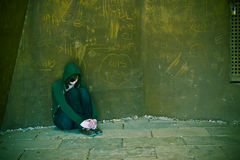 Young woman alone royalty free stock photos