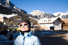 Young Woman In Alps Resort Royalty Free Stock Photo