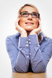 Young woman anticipating good future opportunities royalty free stock photo
