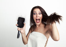 Young woman is appalled Stock Image