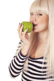 Young woman with apple Stock Images