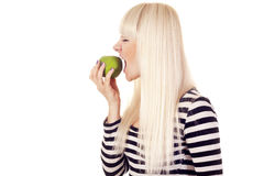 Young woman with apple Royalty Free Stock Photos